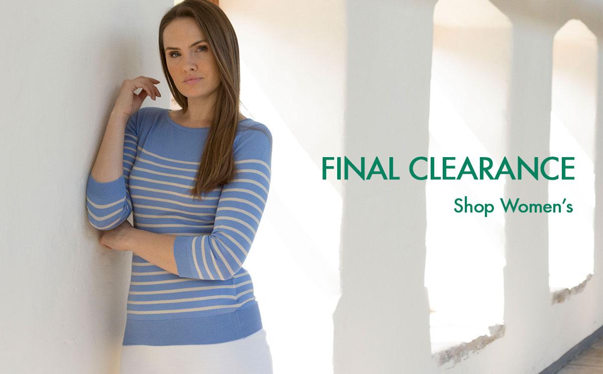 SHOP WOMEN'S FINAL CLEARANCE